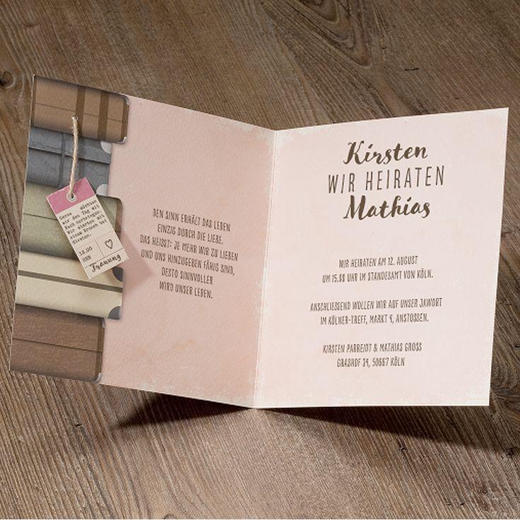 """Moderne Hochzeitseinladungen auf Pinterest""""  Hochzeitseinladungen ..."""