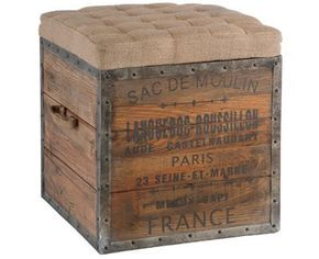 shipping crate chair with burlap. This is so great but where do you find old shipping crates?