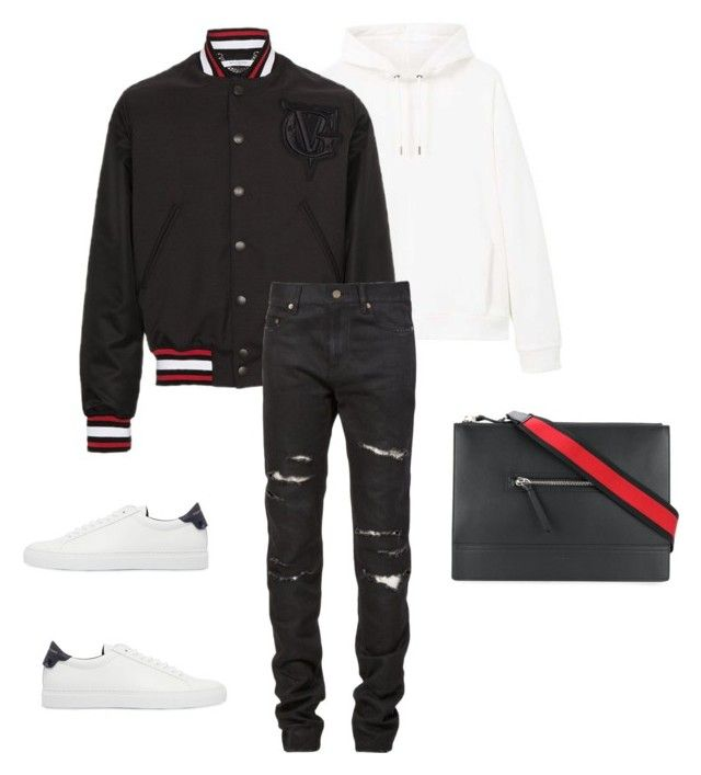 """""""Untitled #663"""" by aintdatjulian on Polyvore featuring MANGO MAN, Givenchy, Yves Saint Laurent, men's fashion and menswear"""