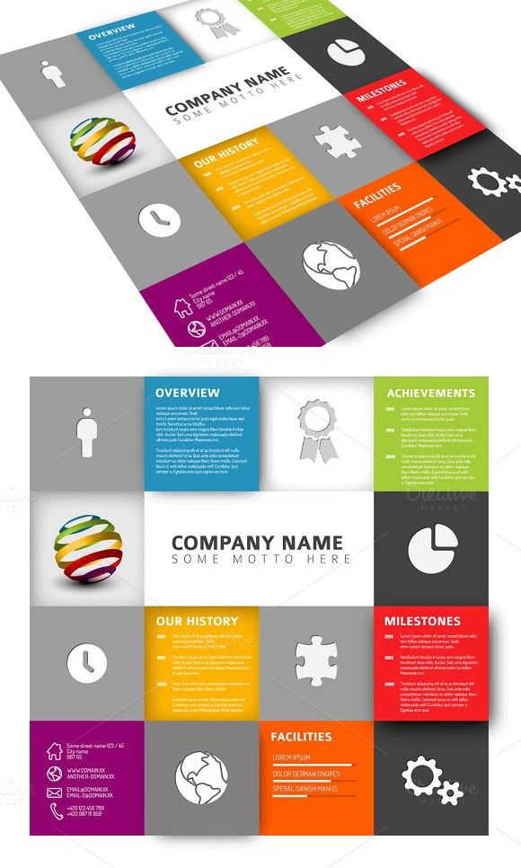 Mosaic Company Profile . Business Infographic