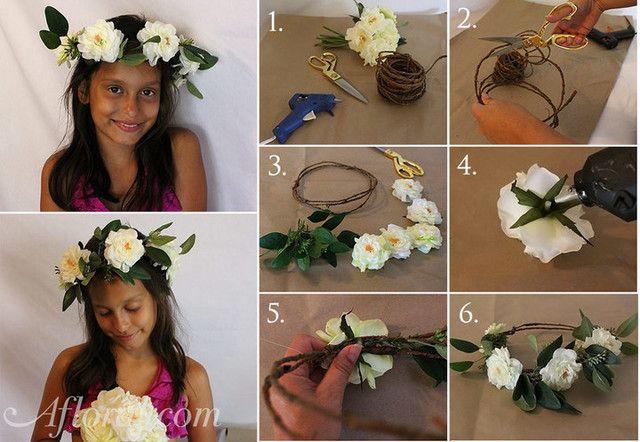 DIY Floral Crown | Boho Weddings | Flower Crown for brides, bridesmaids, and flower girls