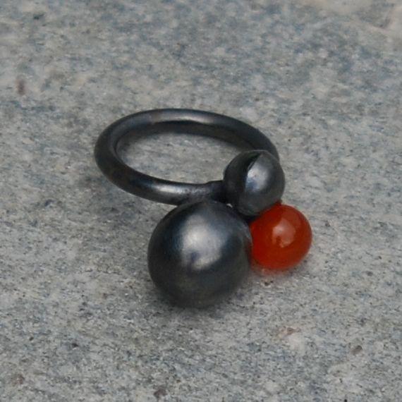 Silver and semi precious stone