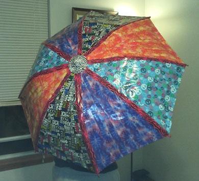 Duct tape umbrella