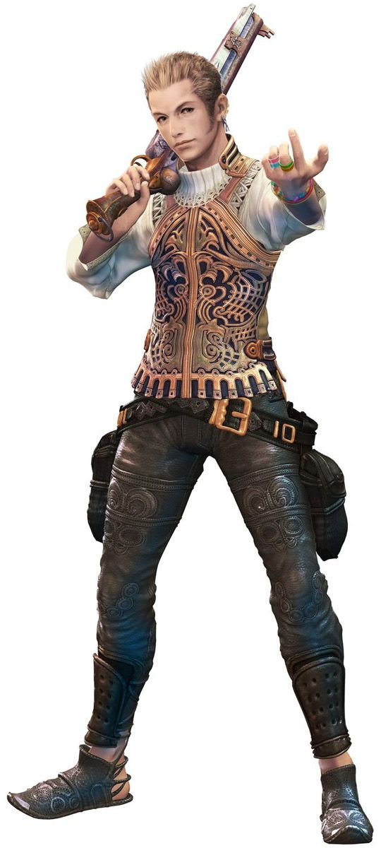 Balthier - One of the inspirations for Teo. Like an older/more mature, well-dressed, suave sky pirate version of Teo. In a Final Fantasy game.