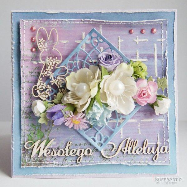 Ażurowy zajączek- kartka wielkanocna - Kartki na Święta - Papier