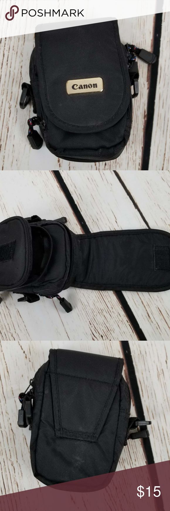 Canon Compact Camera Bag Belt Loop Nylon Pouch Good condition. Missing shoulder strap. Bag Only.  8088 Canon Bags