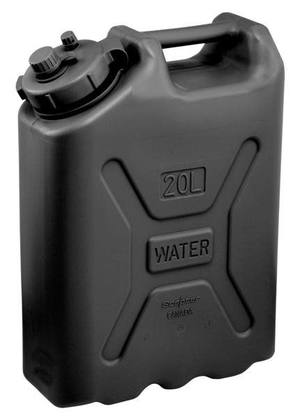 Scepter Fuel and Water Cans, in 20 Litre (5 Gallon) and 10 Litre (2.5 Gallon).