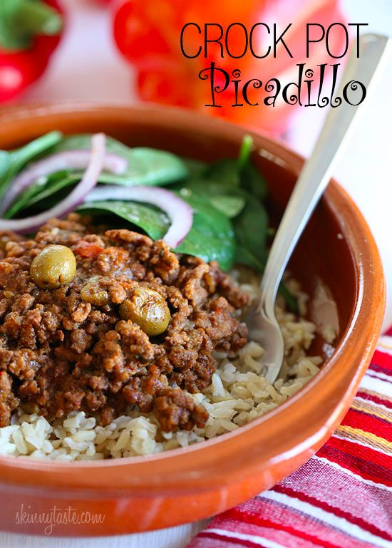 Crock Pot Picadillo | Skinnytaste need add vegetables probably black beans whole grain rice serve with some fruit
