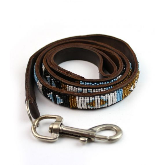 Aspiga Dog Lead Turquoise Arrow. Treat your fluffy friend with this stylish beaded dog lead.£32. Worldwide Shipping Available.