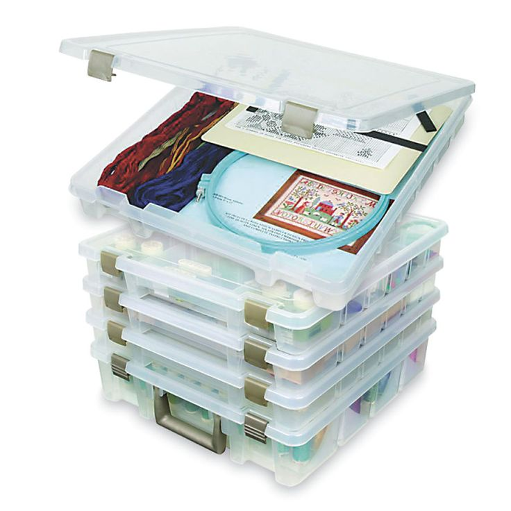 Super Satchel Slim Open Storage Box - Cross Stitch, Needlepoint, Embroidery Kits – Tools and Supplies
