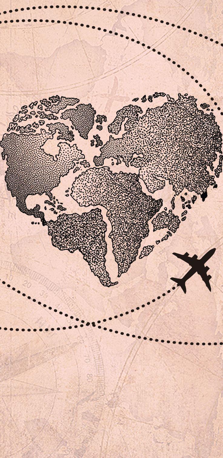 Capinha para celular Fascino – Coração Mapa Mundi