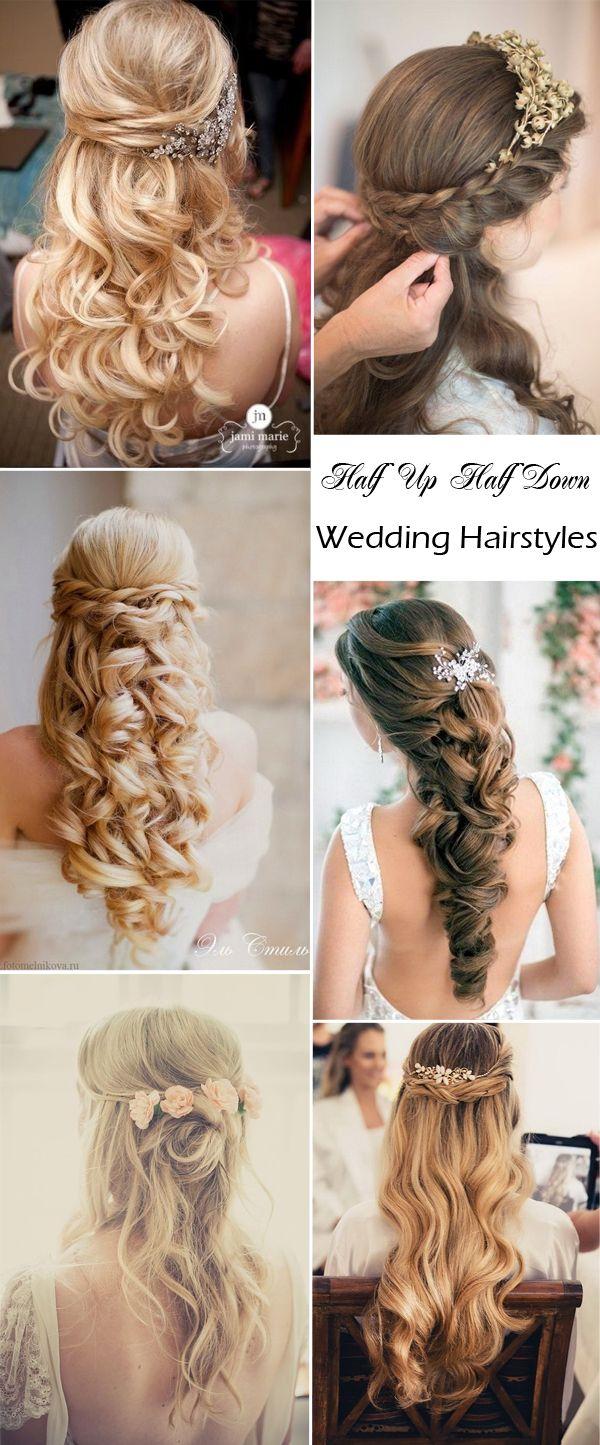 Elegant Wedding Hairstyles: Half Up Half Down | http://www.tulleandchantilly.com/blog/elegant-wedding-hairstyles-half-up-half-down/