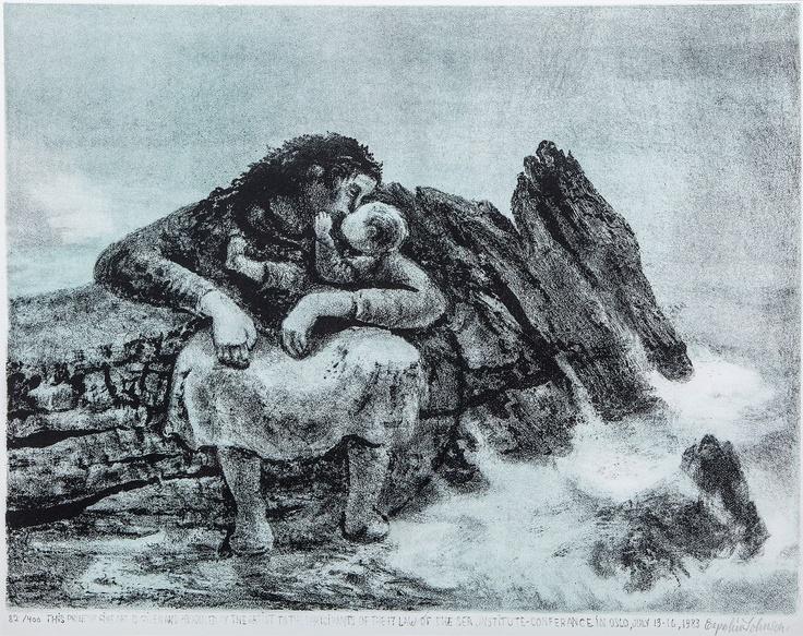 Kaare Espolin Johnson (1907-94) - The Woman, the Sea, and the Infant
