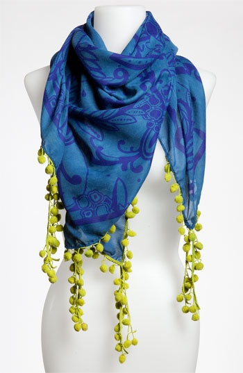 Michael Stars 'Inked Paisley' Scarf from Nordstrom. So pretty!