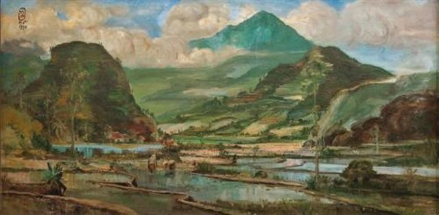 S Sudjojono - Pemandangan (Landscape) (sold for $270,400)