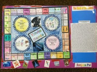 Gameboard for Action/Adventure Book Report