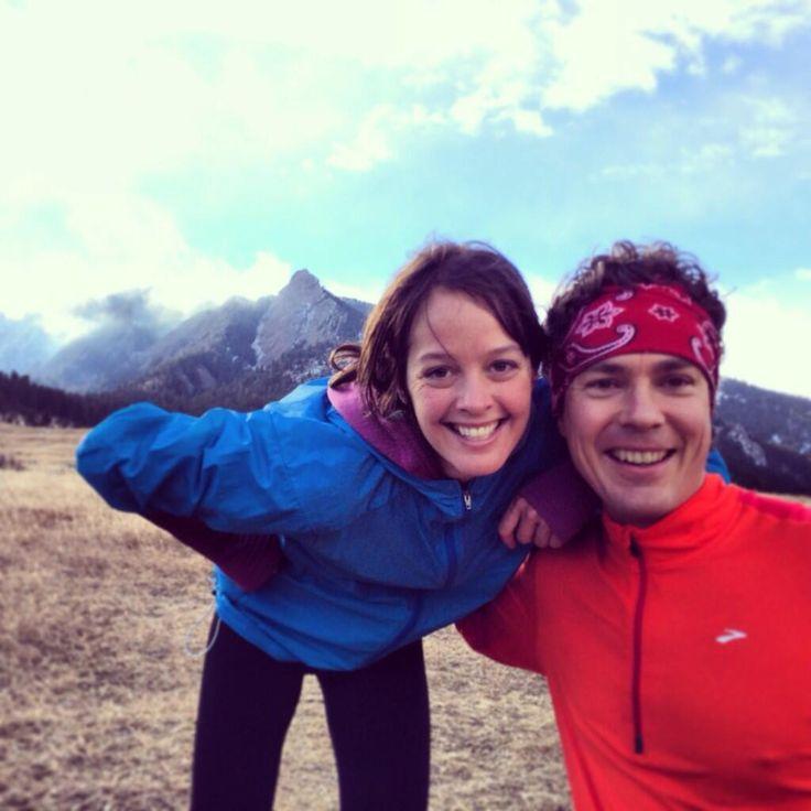 Scott Jurek and Jenn