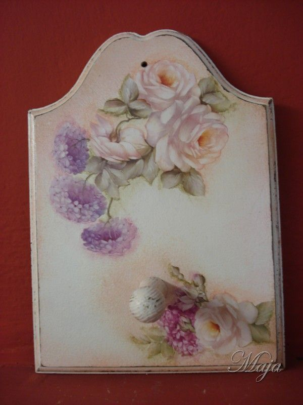 Little hanger with decoupage
