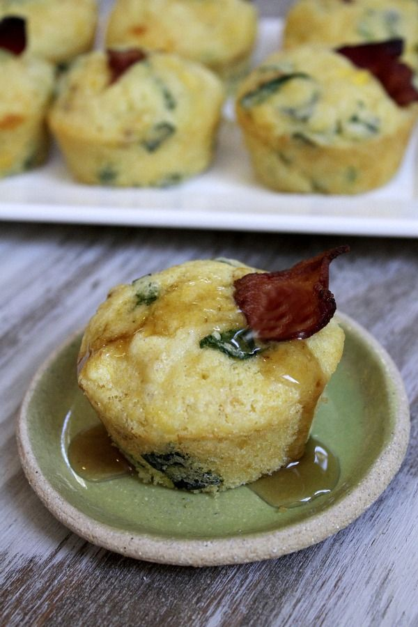 Bacon, Egg and Spinach Muffins | BHG Delish Dish #recipe