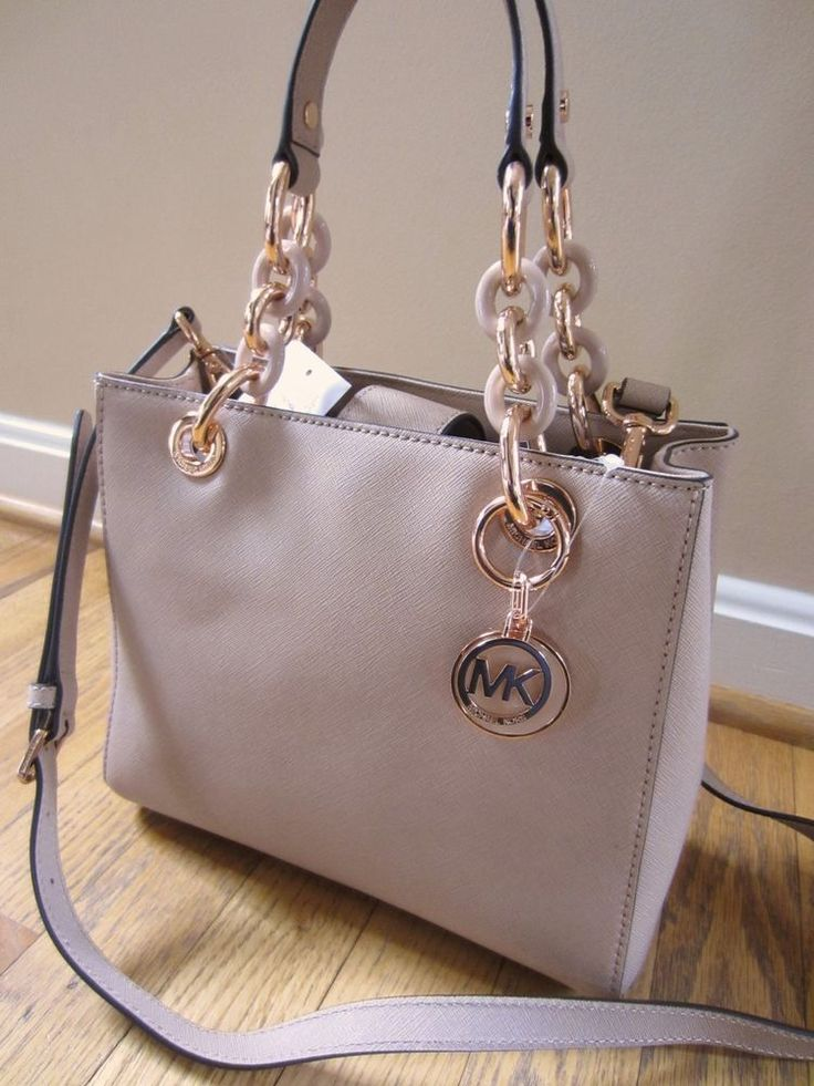 Michael Kors Small Ns Cynthia Blush Satchel Crossbody Messenger Handbag Nwt