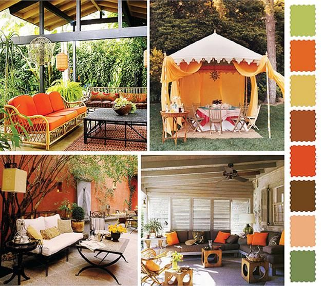 Decorating With Colors Mango: 5 Outdoor Home Decorating Color Schemes And Patio Ideas