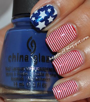 simple memorial day nails