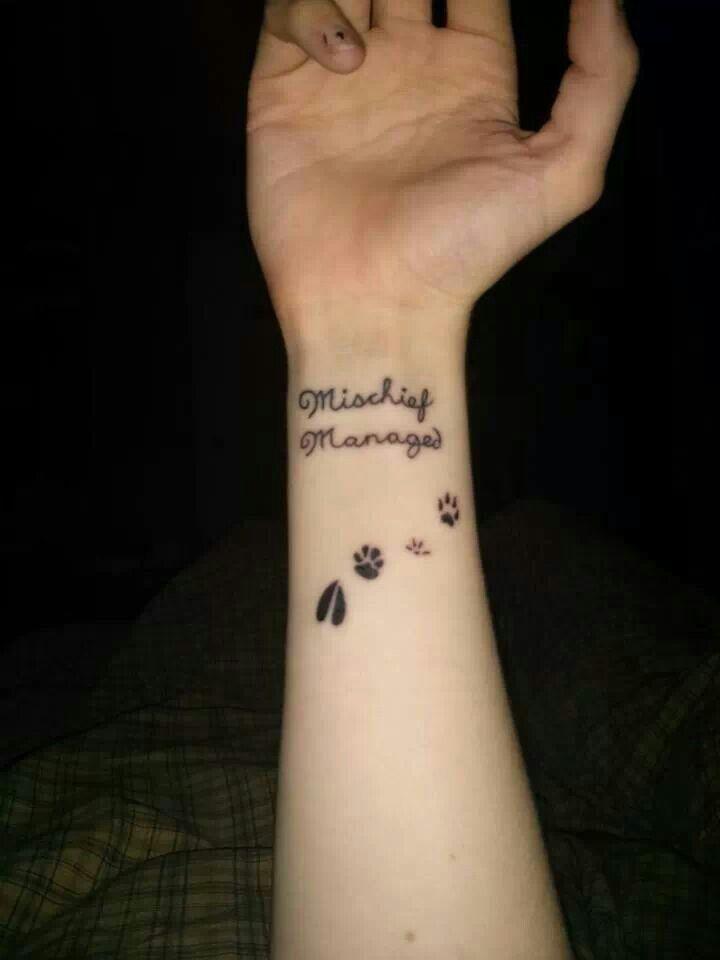 Mischief managed | tattoo ideas | Pinterest
