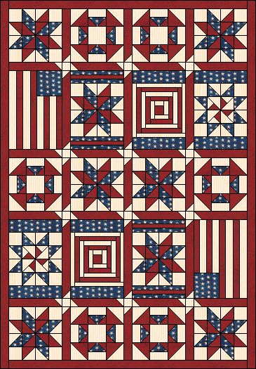 Independence Quilt free pattern and instructions