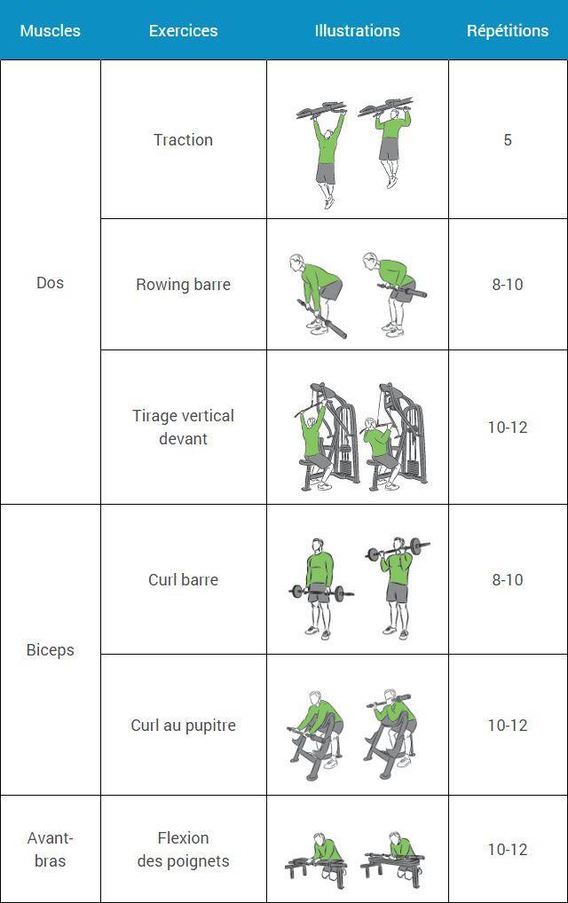 Connu Les 26 meilleures images du tableau programme musculation sur  AI27