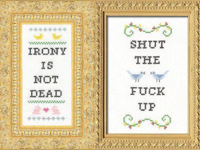 Cross stitch. Boss stitch.