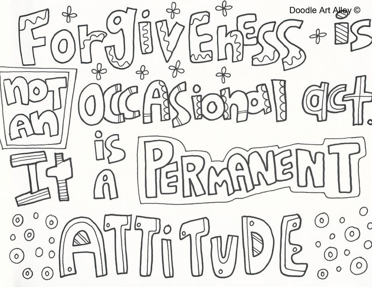 Enjoy Some Forgiveness Printables Quote Coloring Pages