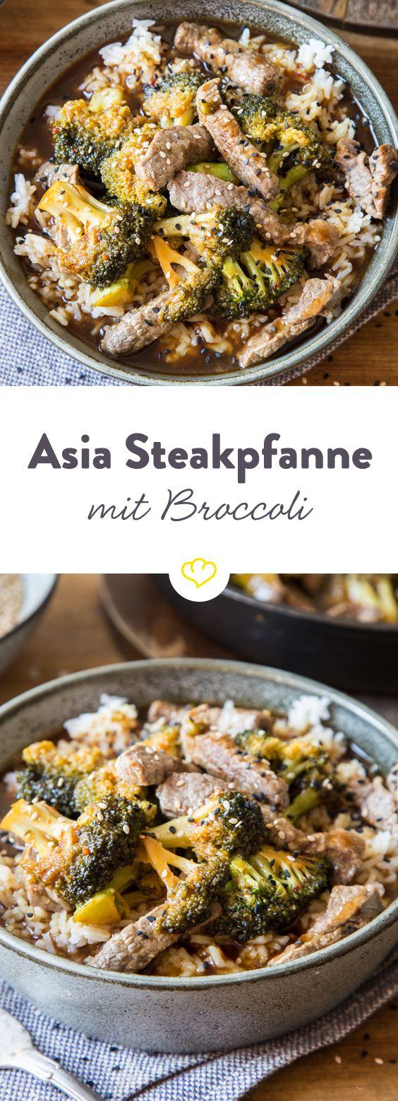 Die vielfältigen Aromen Asiens, saftiges Steak und knackiger Brokkoli in einem Gericht vereint - das riecht nach einem gelungenen Feierabend.
