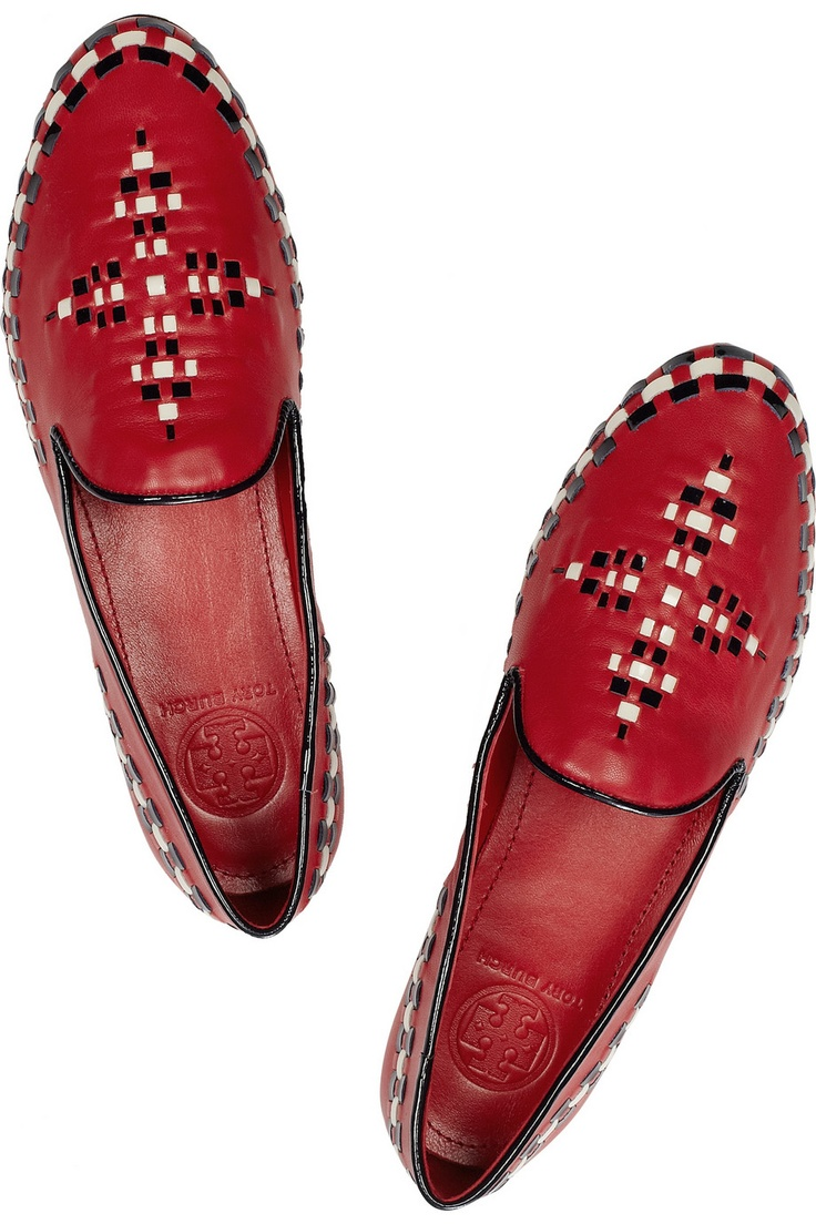 Tory Burch | Marlow embroidered leather loafers
