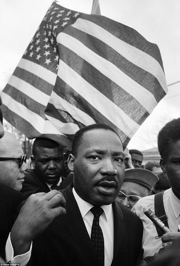 Protest: Martin Luther King during his march from Selma, Alabam, to Montgomery in 1965 as part of the American civil rights movement