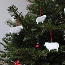 Weihnachtsdeko - Weihnachtsschaf August - ein Designerstück von pennyvertone bei DaWanda