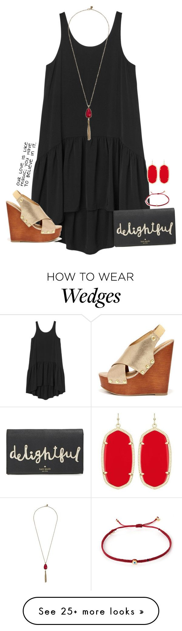 """""""my birthday is exactly a month from now!"""" by kaley-ii on Polyvore featuring Monki, The Sak, Soda, Kate Spade, Tai and Kendra Scott"""