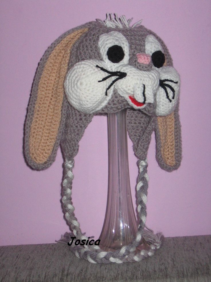 Amigurumi Bugs Bunny Yapilisi : Bugs Bunny crochet hat Cool Crochet Pinterest ...