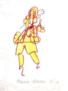 """Katauga: Retrato com o 2º Ano do Fundamental I - Desenhar sem olhar para o desenho é uma das sugestões de Betty Edwards em seu livro Desenhando com o Lado Direito do Cérebro. Nas aulas sobre retrato e auto-retrato esta técnica foi sugerida às turminhas do 2º ano com a intenção de """"desencucar"""" um pouco as suas cabecinhas já tão cheias de podes e não-podes, o que acabou causando muitas risadas, alguns protestos dos mais exigentes, mas, principalmente, um gostoso divertimento. O resultado está…"""