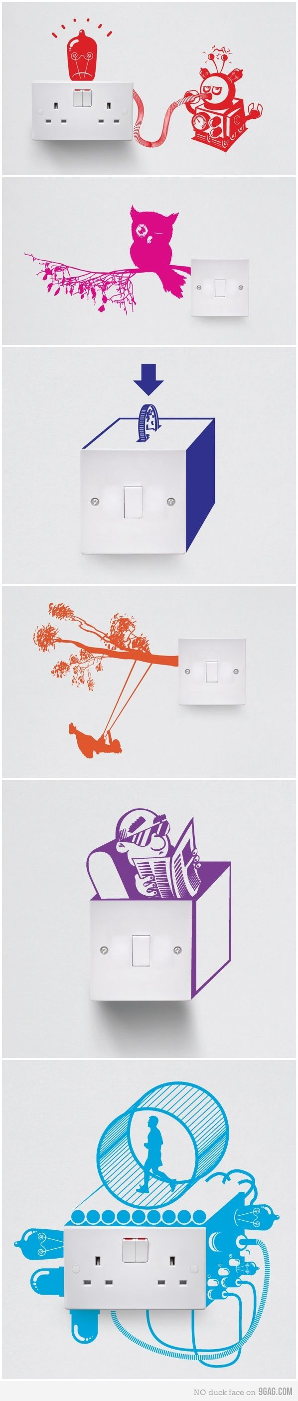 I could see myself doodling on an electric outlet like this. I don't think I am the best doodler so I probably won't but would if I was about to repaint the room.