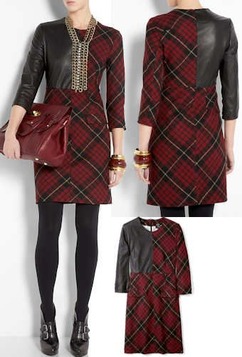 Fabulous plaid dress tartan mcqueen leather fabulous couture