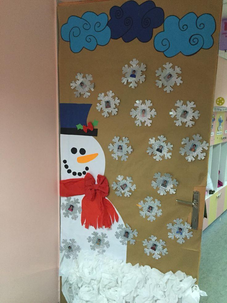 Kış kapı süsleme