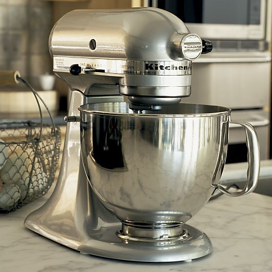 KitchenAid® Artisan Metallic Chrome Stand Mixer in Top Small Appliances | Crate and Barrel