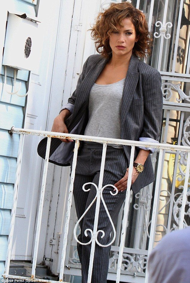 Back to work: Jennifer Lopez was spotted on the Queens, New York set of her upcoming series Shades Of Blue on Wednesday