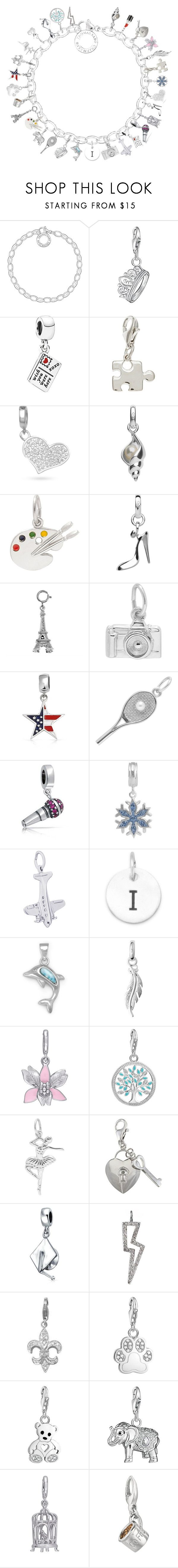 """""""My Charm Bracelet"""" by hellobonjour2018 ❤ liked on Polyvore featuring Thomas Sabo, Pandora, La Preciosa, Belk Silverworks, Links of London, Bling Jewelry, Disney, Rembrandt Charms, Laura Ashley and Tessa Packard"""