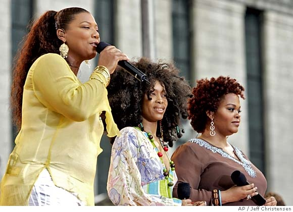 Jill Scott, Erykah Badu and Queen Latifah