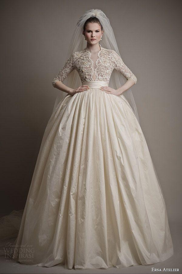 11 best Turtle neck wedding dress images on Pinterest | Wedding ...