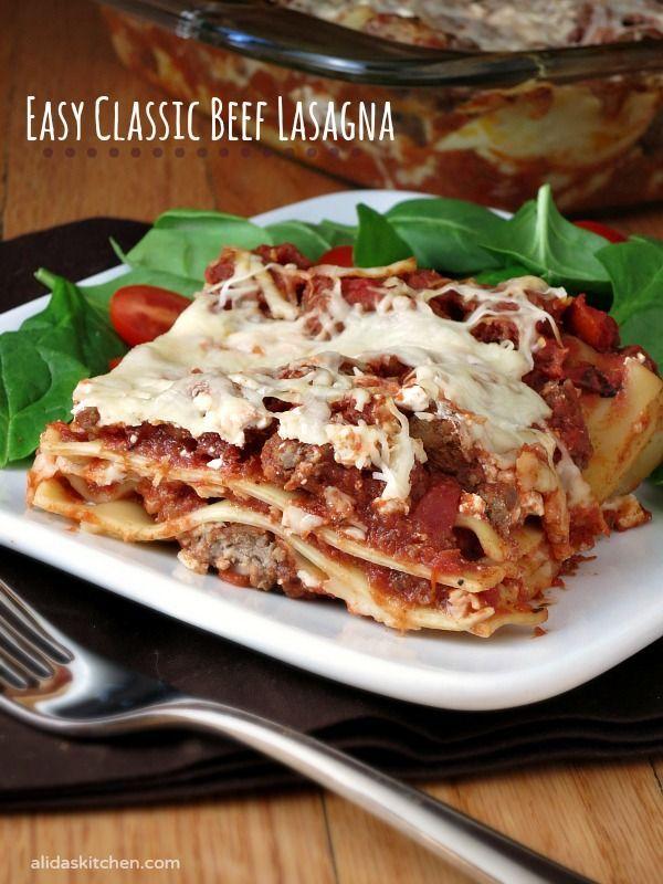 Mom's Lasagna   Recipe   Lasagna recipes, Easy recipes and Mom
