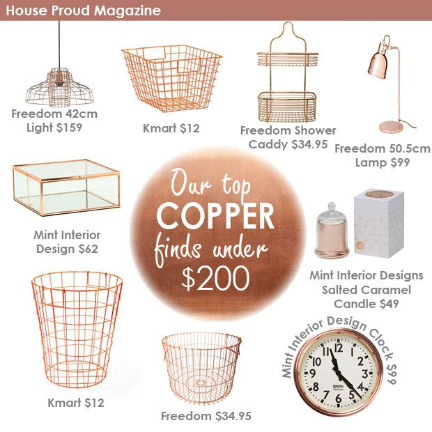 Our best Copper finds in March 2015 at House Proud Magazine