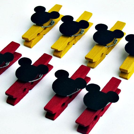 Mickey Mouse Mini Clothespins Treat Bag Banner by BBGPartyDesigns, $8.99