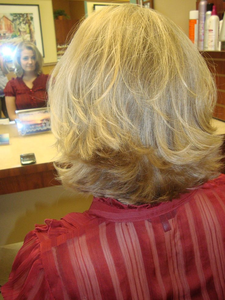 short thick and blonde flipped